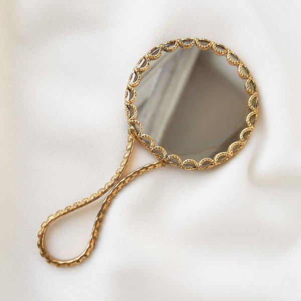 Винтажное ручное зеркало Limoges из Франции Старинные украшения