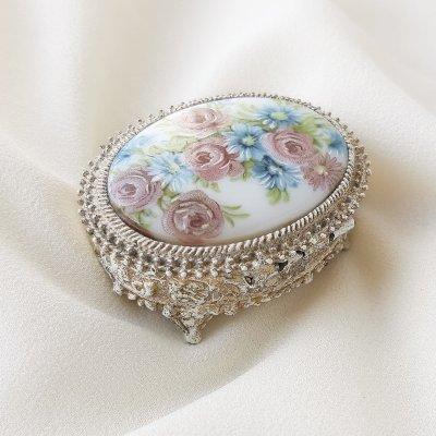 Винтажная коллекционная шкатулка - таблетница от Florenza