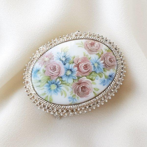 Винтажная коллекционная шкатулка - таблетница от Florenza для самых оригинальных и стильных