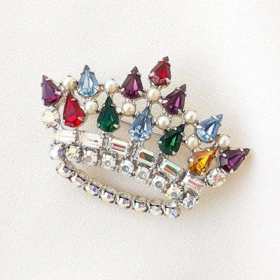 Винтажная брошь «Фамильная корона» от B. David