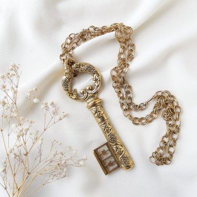 Винтажный кулон на цепи «Ключ» от Goldette