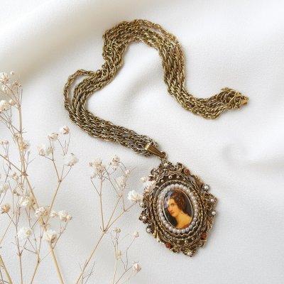 Винтажный кулон на цепи «Амалия» от Art