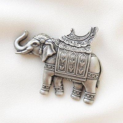 Винтажная брошь «Слон» от марки JJ
