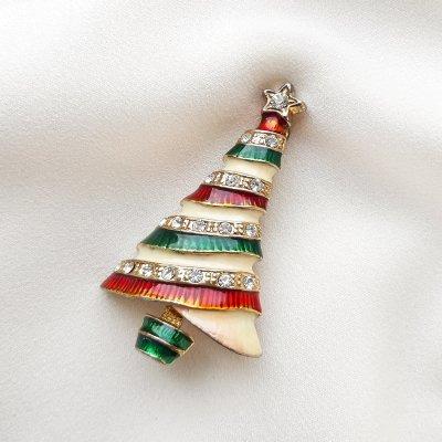 Винтажная брошь «Рождественская елочка» от Eisenberg
