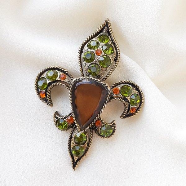 Геральдическая брошь - кулон «Fleur de lis» от BSK Купить