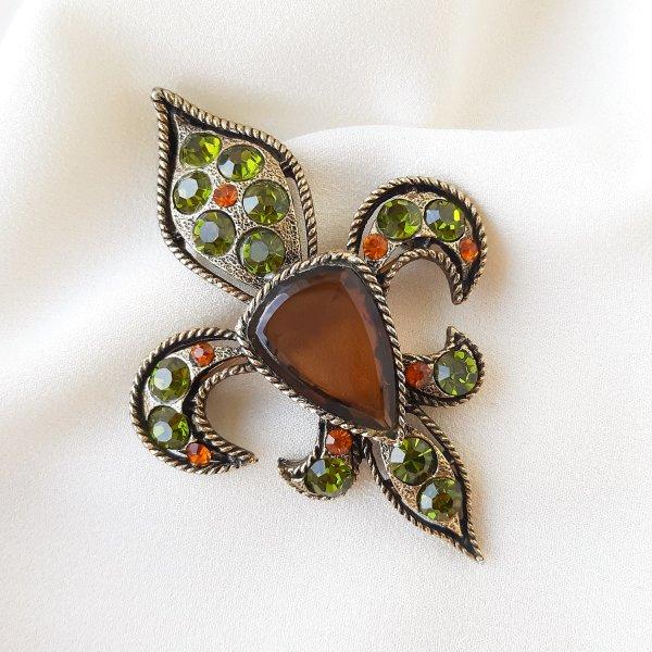 Геральдическая брошь - кулон «Fleur de lis» от BSK Купить винтаж