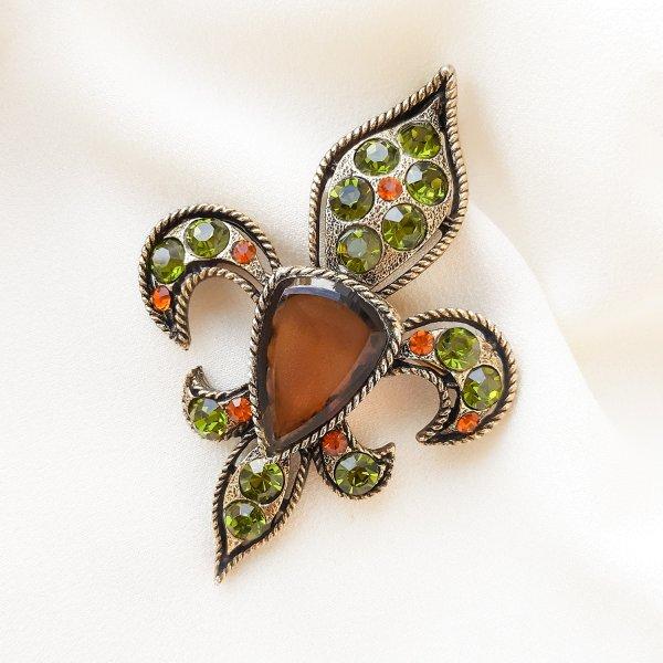 Геральдическая брошь - кулон «Fleur de lis» от BSK Старинные украшения