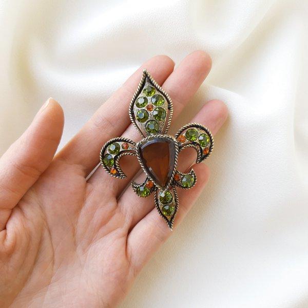 Геральдическая брошь - кулон «Fleur de lis» от BSK Купить антиквариат