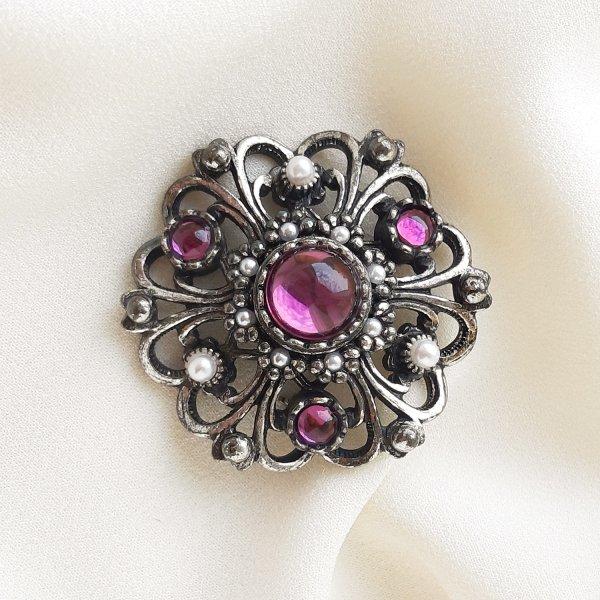 Винтажная брошь «Пурпур» от Miracle для любителей старины и антиквариата