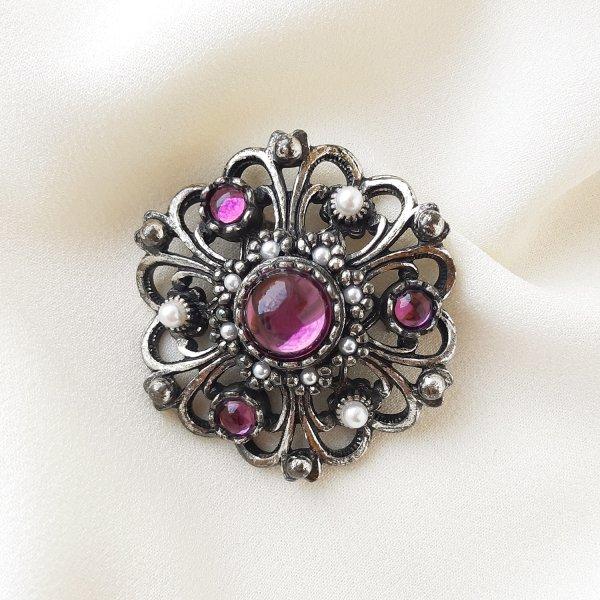 Винтажная брошь «Пурпур» от Miracle оригинальный и эксклюзивный подарок девушке