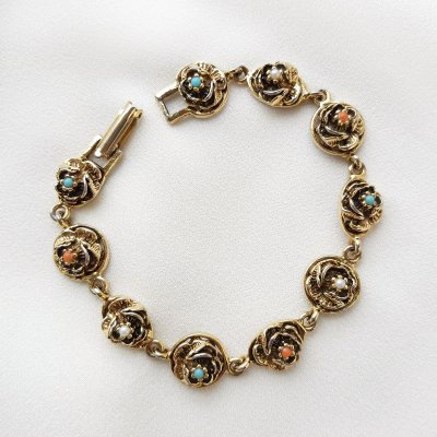 Винтажый браслет «Розочки» от Goldette