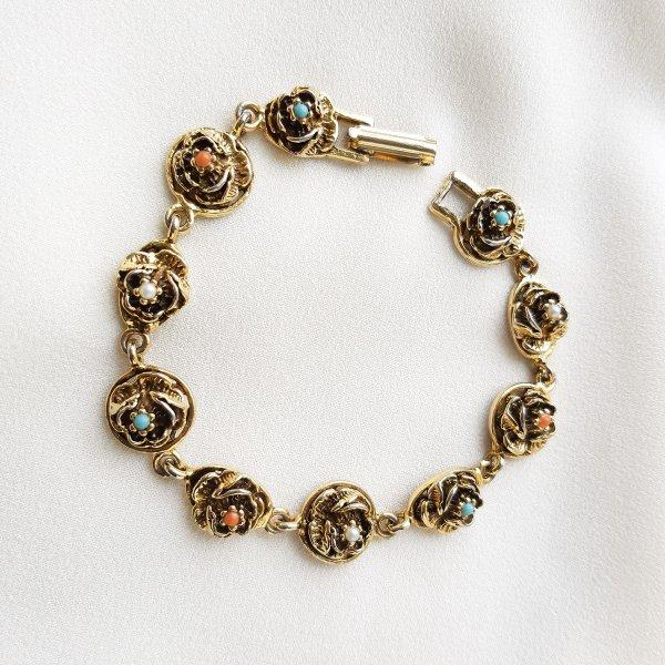 Винтажый браслет «Розочки» от Goldette редкие антикварные украшения