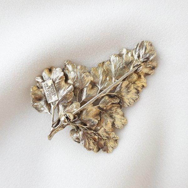 Винтажная серебряная брошь «Цветущий крыжовник» от Flora Danica редкие антикварные украшения