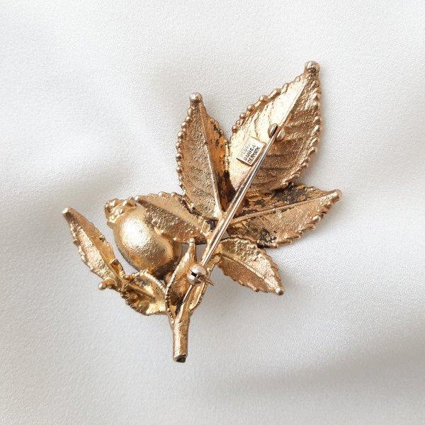 Винтажная брошь «Дикий шиповник» от Flora Danica редкие антикварные украшения