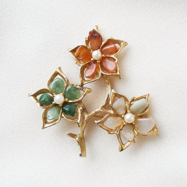 Винтажная брошь «Волшебные цветы» от Swoboda для любителей старины и антиквариата