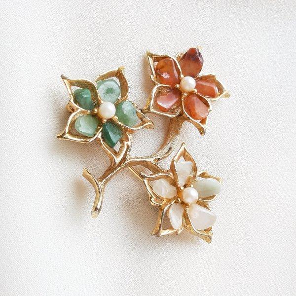 Винтажная брошь «Волшебные цветы» от Swoboda это настоящая бижутерия класса люкс