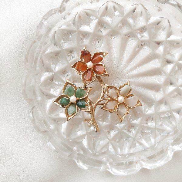 Винтажная брошь «Волшебные цветы» от Swoboda оригинальный и эксклюзивный подарок девушке