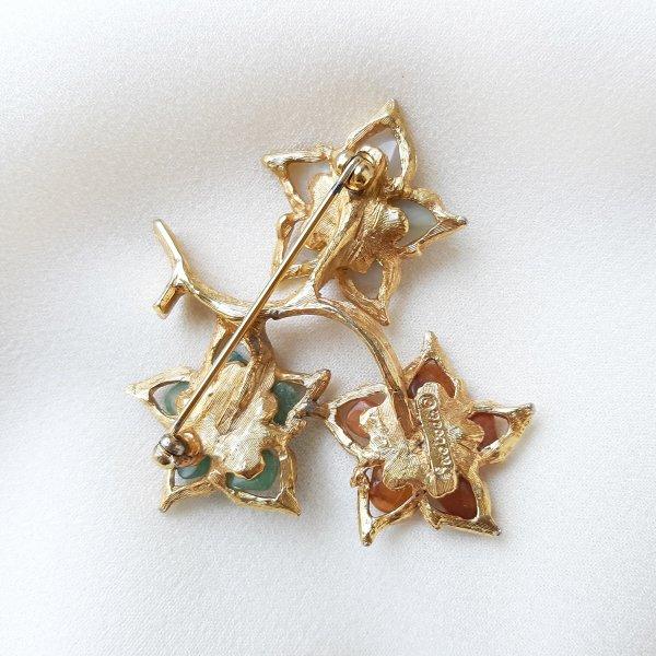 Винтажная брошь «Волшебные цветы» от Swoboda редкие антикварные украшения