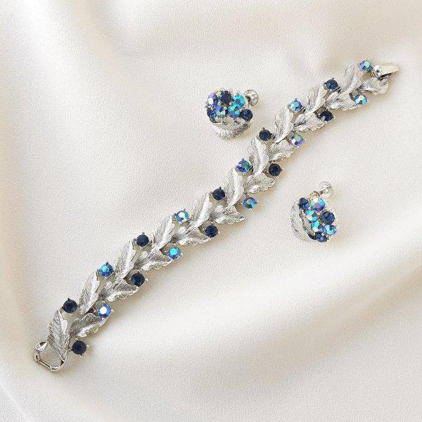 Винтажный браслет и клипсы «Снежная королева» от Lisner для самых оригинальных и стильных