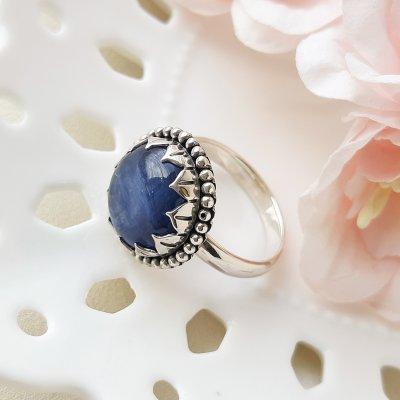 Серебряное кольцо с кианитом «Планета» от Sajen