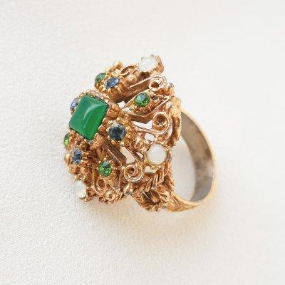 Винтажное коктейльное кольцо «Королева» от Florenza