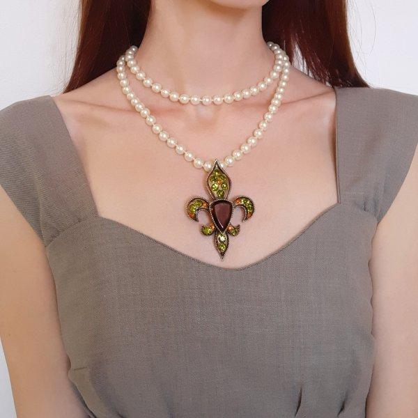 Геральдическая брошь - кулон «Fleur de lis» от BSK Купить с доставкой