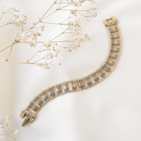 Винтажный браслет «Орнамент» от Goldette для любителей старины и антиквариата