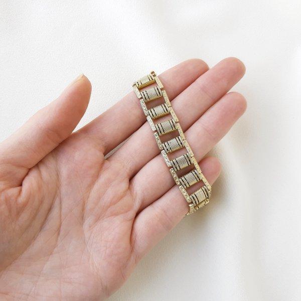 Винтажный браслет «Орнамент» от Goldette это настоящая бижутерия класса люкс