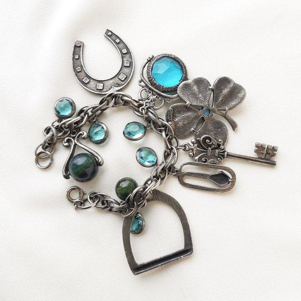 Винтажный браслет с подвесками «Удача» от Art оригинальный и эксклюзивный подарок девушке