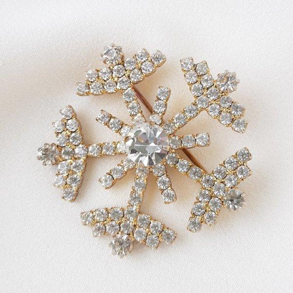 Винтажная брошь «Снежинка» от Eisenberg оригинальный и эксклюзивный подарок девушке