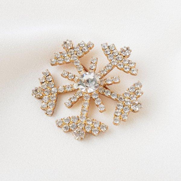 Винтажная брошь «Снежинка» от Eisenberg редкие антикварные украшения