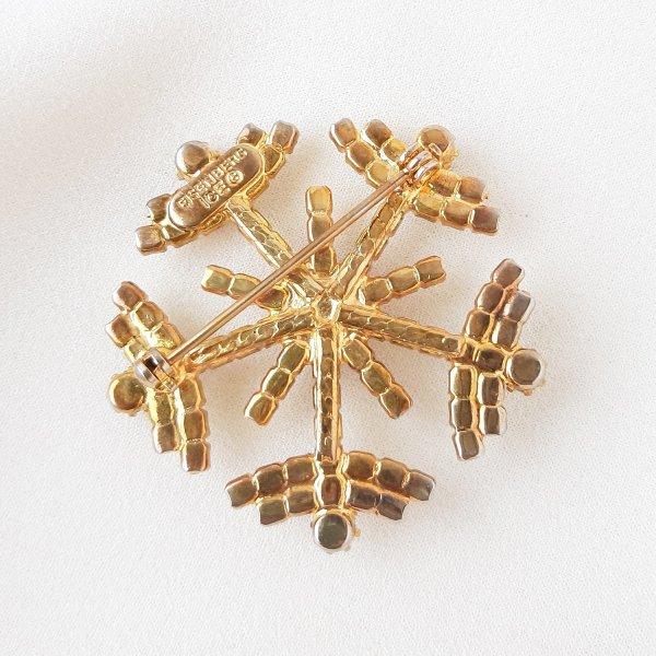 Винтажная брошь «Снежинка» от Eisenberg это настоящий редкий винтаж