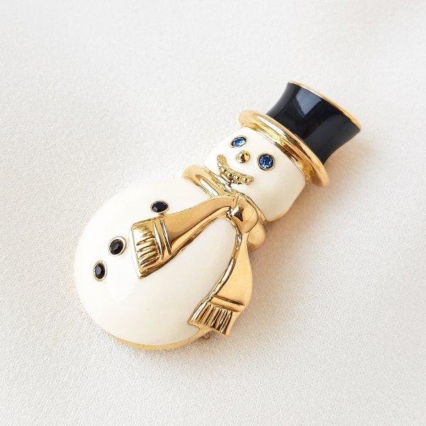 Винтажная брошь «Снеговик» от Monet для любителей старины и антиквариата