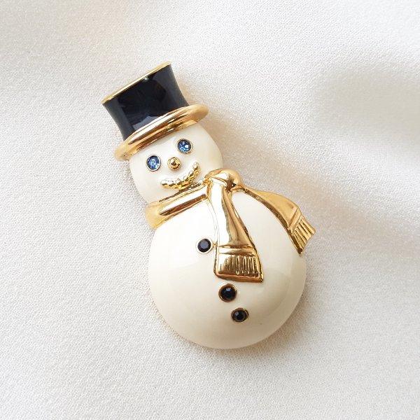 Винтажная брошь «Снеговик» от Monet оригинальный и эксклюзивный подарок девушке