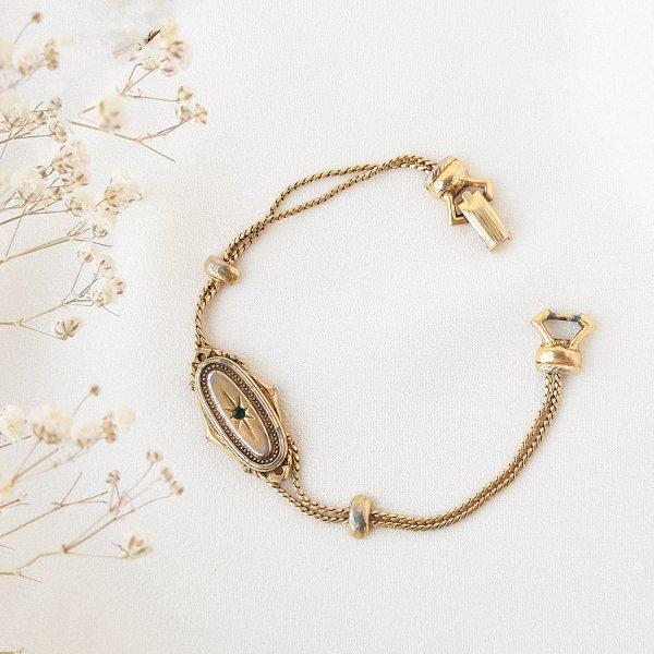 Винтажный браслет в викторианском стиле от Goldette редкие антикварные украшения