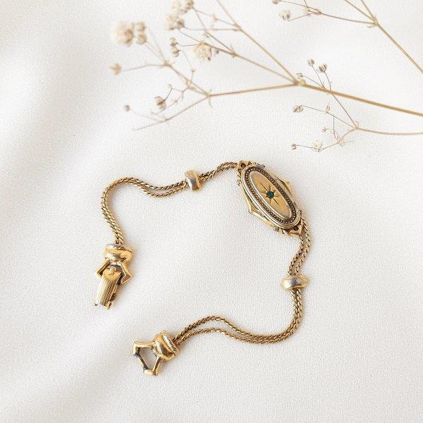 Винтажный браслет в викторианском стиле от Goldette для любителей старины и антиквариата