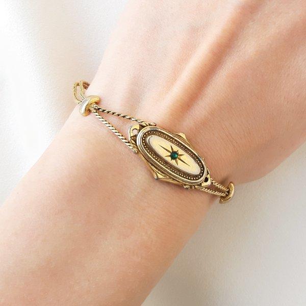 Винтажный браслет в викторианском стиле от Goldette это настоящая бижутерия класса люкс