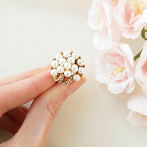 Винтажное коктейльное кольцо «Нежность» от Art редкие антикварные украшения