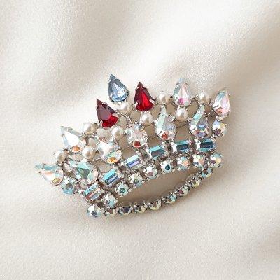 Винтажная брошь «Family crown» от B. David