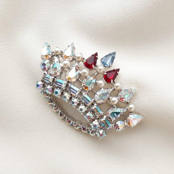Винтажная брошь «Family crown» от B. David оригинальный и эксклюзивный подарок девушке