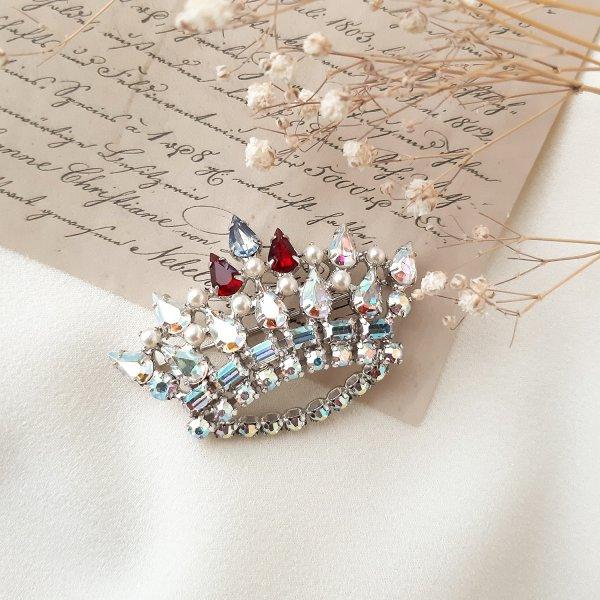 Винтажная брошь «Family crown» от B. David для самых оригинальных и стильных