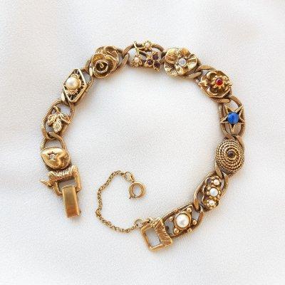 Винтажный браслет «Секреты любви» от Goldette