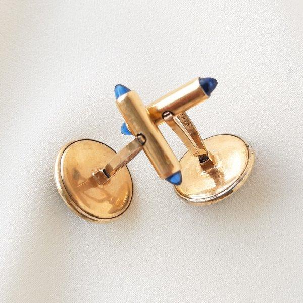 Винтажный комплект запонок «Магия синего» от Krementz это настоящая бижутерия класса люкс