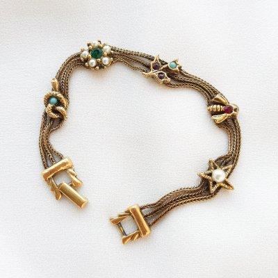 Винтажный браслет «Талисманы» от Goldette