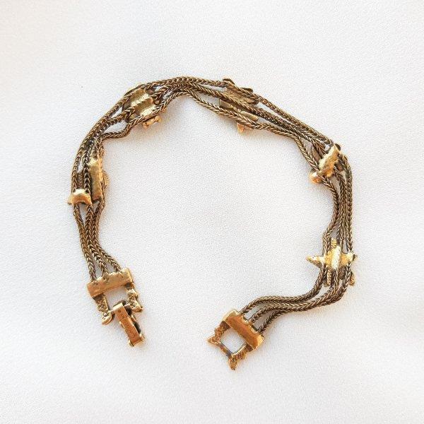 Винтажный браслет «Талисманы» от Goldette редкие антикварные украшения