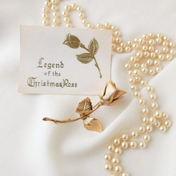 Винтажная брошь «Зимняя роза » от Giovanni для самых оригинальных и стильных