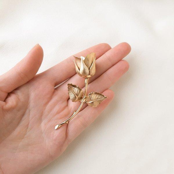 Винтажная брошь «Зимняя роза » от Giovanni оригинальный и эксклюзивный подарок девушке