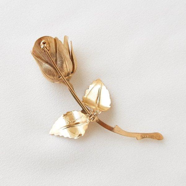 Винтажная брошь «Зимняя роза » от Giovanni редкие антикварные украшения