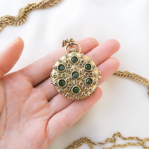 Винтажный роуп с медальоном от Goldette Старинные украшения