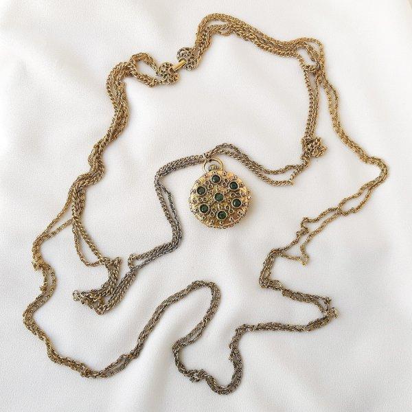 Винтажный роуп с медальоном от Goldette для самых оригинальных и стильных